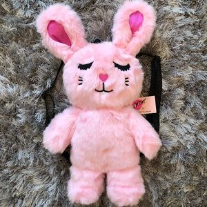Betsey Johnson Plush Fluff Bunny backpack